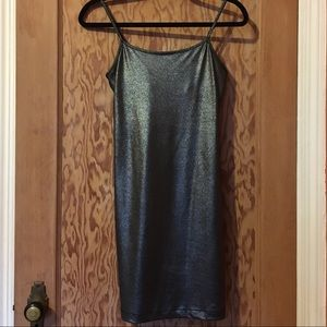 Sparkly silver Spaghetti strap dress